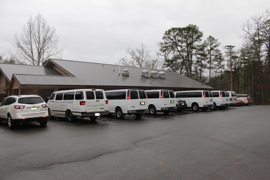 Vans used to gather children