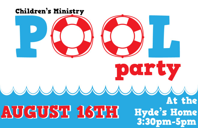 Children's Ministry - Back to School Pool Party