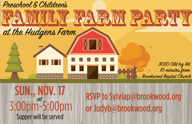 Preschool & Children's Family Farm Party