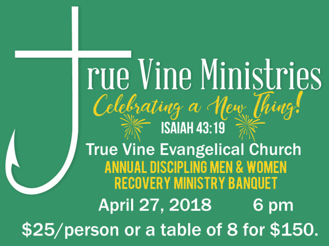 Annual Discipling Men & Women Recovery Ministry Banquet