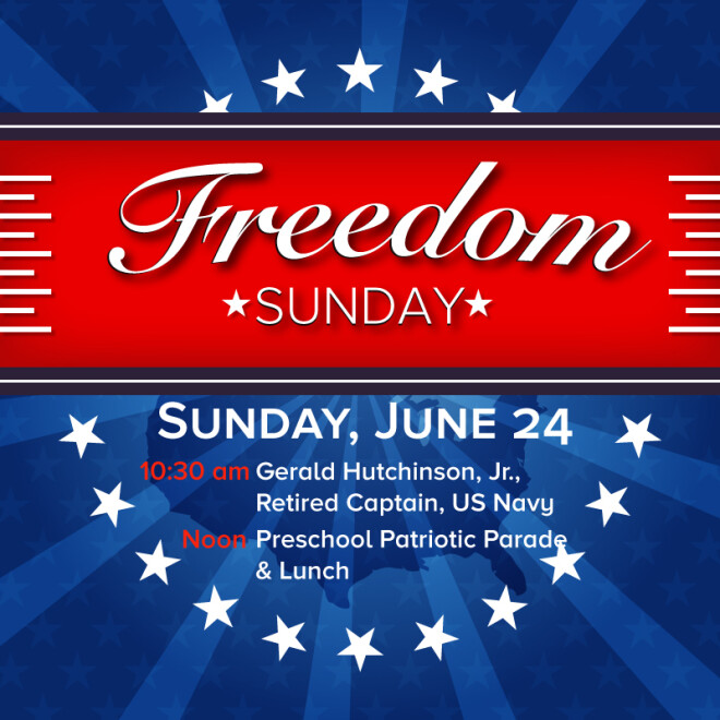 Freedom Sunday with guest Gerald Hutchinson