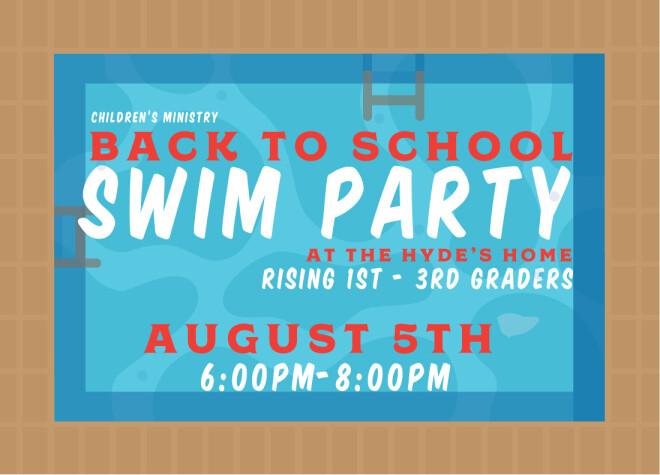 Back to School Swim Party