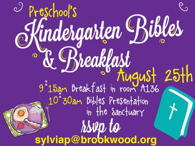 Preschool Bibles & Breakfast