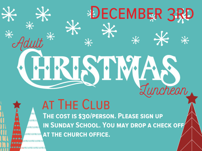 Adult  Ministry Christmas Luncheon