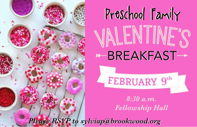Preschool Family Valentine's Breakfast