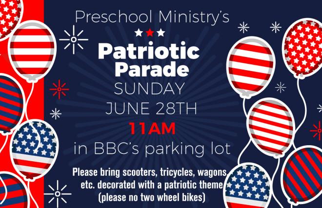 Preschool Patriotic Parade