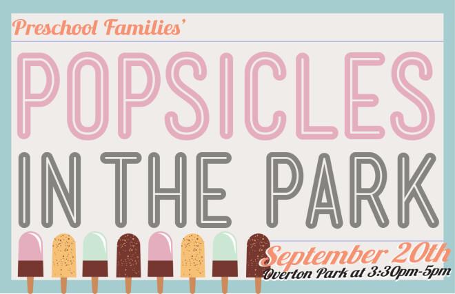 Preschool Families' Popsicles in the Park